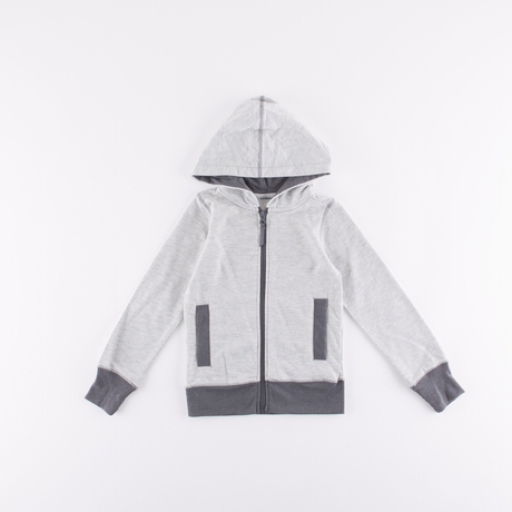 kids' causal hooded knit coats