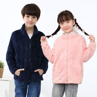 Children with cashmere coat 2020 new Autumn winter Baby coral cashmere coat wholesale